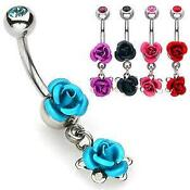 6mm Dangle Belly Bar