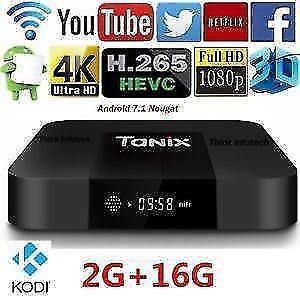 Android Tv Box  Android 7.1  6 month warranty / garantie 6 mois