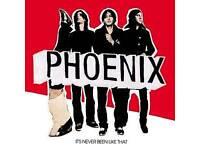 Hot PHOENIX tickets x2 Alexandra Palace 30-Sep-2017