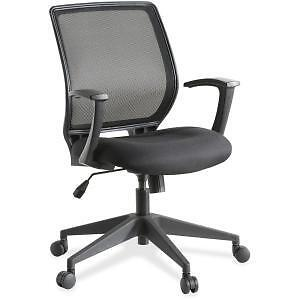 Executive Mid-back Work Chair -Upholstery Black Seat -Bac
