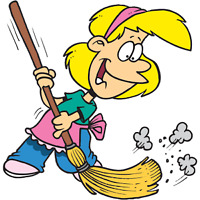 Fast and efficient house clean up!
