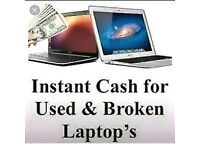 Laptops and computers wanted for cash