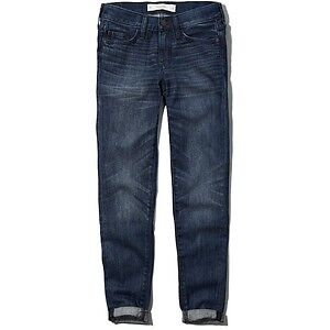 NEW WITH TAGS ABERCROMBIE AND FITCH BOYFRIEND JEANS, SIZE 2
