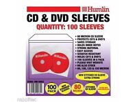 cd & dvd sleeves 100 sleeves pack by humlin