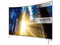 """Samsung Smart 4K Ultra HD HDR 43"""" Curved LED TV. 5 months old. 3 years & 7 months warranty. £600"""