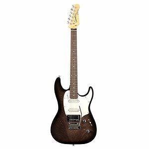 Godin 034048 Session Black Burst SG RN 6 String Electric Guitar
