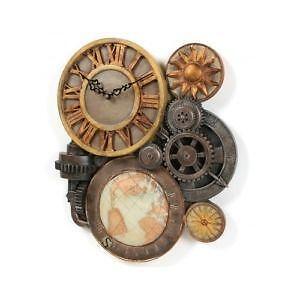 steampunk gears altered art collage ebay