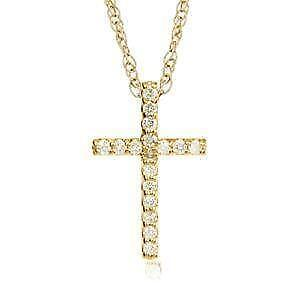 Diamond cross necklace ebay womens diamond cross necklaces aloadofball Image collections