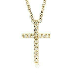 Diamond cross necklace ebay womens diamond cross necklaces aloadofball Choice Image