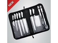 Royalty Line 10 Pcs Stainless Steel Set with Carrying Case RL-K10HL. Brand New - Fantastic Gift