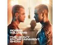Robbie Williams 2x tickets Friday 2nd June ETIHAD STADIUM MANCHESTER