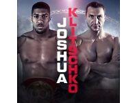Joshua Vs Klitschko Tickets