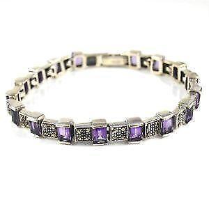 Marcasite Amethyst Bracelet