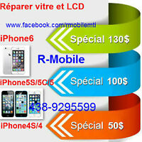 Reparer iPhone6+/6/5/4 iPod touch,vitre,Lcd,screen repair unlock