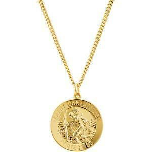 St christopher necklace ebay st christopher necklace gold mozeypictures Gallery
