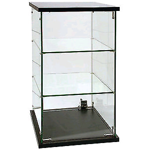 Two Glass tabletop cabinet
