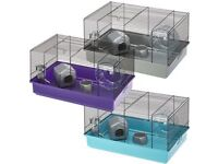 hamster cage with hamster stuff