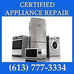 Appliance Repair - Free Service Call with Any Repair  (613) 777-3334