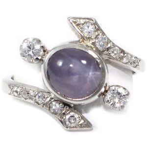 Espo Sterling Silver Blue Star Spphire Ring
