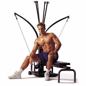 BowFleX Power PrO with Leg Attachment gym weights exercise