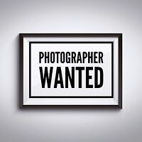 Wanted Photographer  Saturdays from 3PM - 5PM - Students Welcome