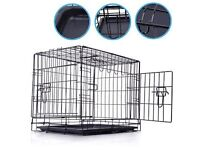 small dog cage 24 inch long all folds down flat suit small dog in vgc