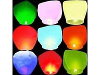 25 Chinese Flying Lanterns - Brand New In Packaging