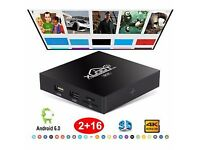 Android tv box 4k 1080p **2gb ram 16gb storage**