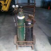 torch and oxy acetylene tanks