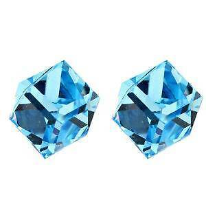 Light Blue Cube Studs Earrings Genuine Swarovski Braddon North Canberra Preview