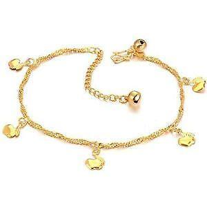 pendants buy row womens foot double com dp arenaceous adjustable anklet bracelet beads chain bead amazon plated s gold grind women