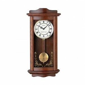 Seth Thomas WOK007082 Oak Pendulum Wall Clock with Seiko Chime