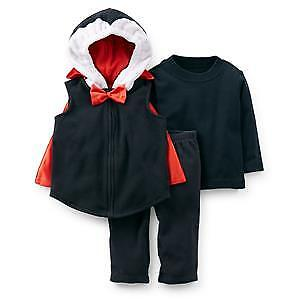 LIKE NEW!Carters Halloween Costume Dracula 18 Months 3 Pieces