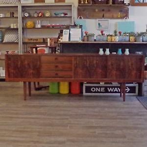 Mid Century Danish Teak, Walnut and Rosewood Sideboards