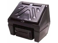 SMALL BLACK COAL BUNKER WAS NEVER USED £50.00 CAN DELIVER ANYTIME