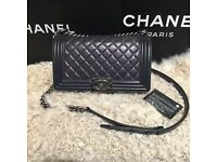 CHANEL BOY CHAIN STRAP BAG