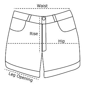 Discover Women's Shorts size guide with ASOS. Size Guide. Please note that size charts relate to ASOS own brand clothing and are designed to fit to the following body measurements. Some brands may vary from these measurements but you can still use them as a guide.