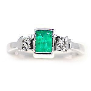 gold emerald ring ebay