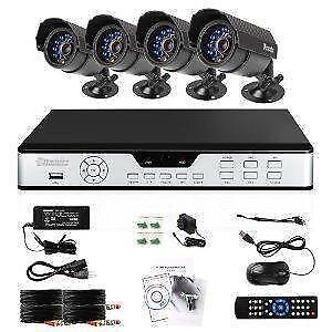 Kross 4CH DVR Security System KIT W/ Cameras
