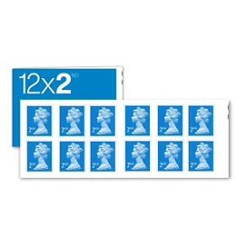 70 x 12 2nd class stamps booklets