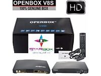 BRAND NEW- OPENBOX V 8 S / M9S HD TV SAT + IPTV RECEIVER BOX ☆£25- COLLECTION ONLY ☆