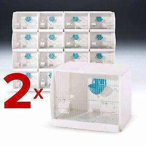 Set of 2 Stackable Canary Finch Breeding Bird Cage with Nest Pan Padstow Bankstown Area Preview