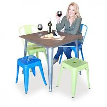 Cafe & restaurant tables - replica Tolix with wooden tops Springvale Greater Dandenong Preview