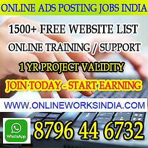 Ad posting jobs India online ad posting jobs in India Earn 10,0