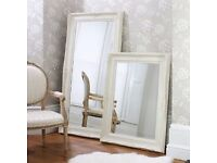 New Large Harrow leaner mirror in silver or cream BACK IN STOCK NOW! from £139