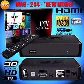 WATCH IN HD✦MAG HD IPTV BOX✦BETTER THAN SATELITE BOXES-NO DISH NEEDED + 12 MTHS-SMART TV/OPENBOX✦