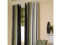 Striped curtains - Endless Kiwi by Swatch Box, professionally made and very classy!