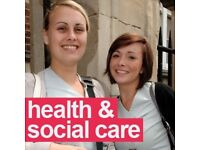 FREE!!! HEALTH & SOCIAL CARE COURSES: LEVEL 2,3 & 4