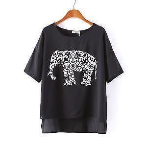 Elephant shirt ebay for Elephant t shirt women s
