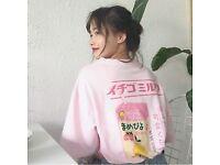 Brand new Strawberry Milk Box Graphic T-shirt Short Sleeve new